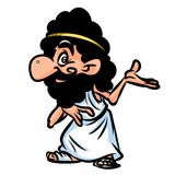 Greek character cartoon Royalty Free Stock Images