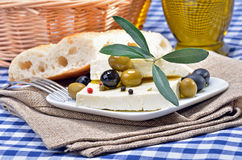 Greek cheese Stock Image