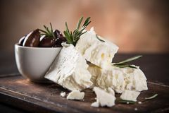 Greek cheese feta Stock Photo