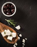 Greek cheese feta stock photography