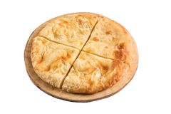 Greek cheese pie close-up isolated Royalty Free Stock Image