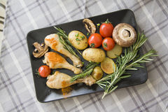 Greek Chicken from above Royalty Free Stock Image