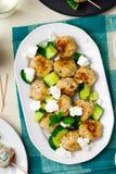 Greek chicken meatballs Stock Photo