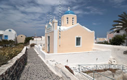 Greek church. Small Greek church in Santorini island Stock Photos