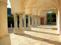 Greek church. Arcade of a church in Paros, Greek Islands Stock Images