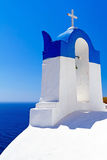 Greek church architecture. Architecture of Oia village at Santorini island, Greece Stock Images