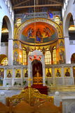 Greek church awesome altar Stock Image