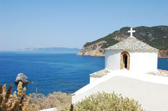Greek church belfry, Skopelos stock photos