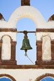 Greek Church Bell. Church bell detail on the Greek island of Santorini Stock Images