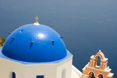 Greek church and bell tower Stock Image