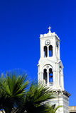 Greek church bell tower Stock Photos