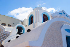 Greek church bell tower, Santorini, Greece Stock Images