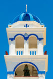 Greek church bell tower on Santorini Royalty Free Stock Photos