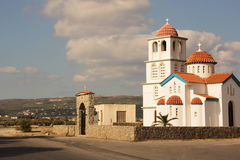 Greek church building Stock Photo