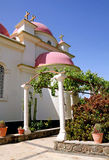 Greek church of the Council of the Twelve Apostles in Capernaum, Royalty Free Stock Photo