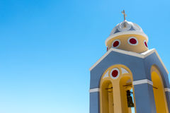 Greek Church And Cross Royalty Free Stock Photo