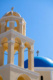 Greek Church Dome and Belfry Royalty Free Stock Image