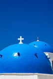Greek Church Dome Royalty Free Stock Photography