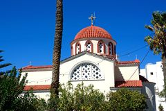 Greek church, Elounda. Royalty Free Stock Image