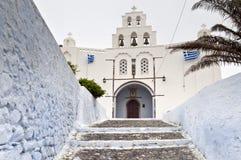 Greek church entrance stock photography