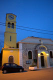 Greek church evening view Royalty Free Stock Photography