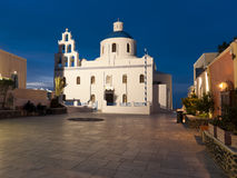 Greek church in Ia town Royalty Free Stock Image