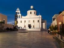 Greek church in Ia town royalty free stock image