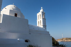 Greek Church in Ios Island, Greece Stock Image