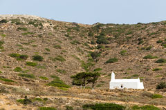 Greek Church in Ios Island, Greece Royalty Free Stock Photos