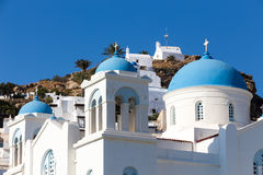 Greek Church in Ios Island, Greece Stock Photography