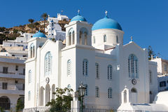 Greek Church in Ios Island, Greece Royalty Free Stock Images
