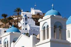 Greek Church in Ios Island, Greece Royalty Free Stock Photos