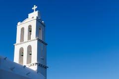 Greek Church in Ios Island, Greece Stock Image