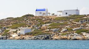 A Greek Church on the Island of Dia royalty free stock photography