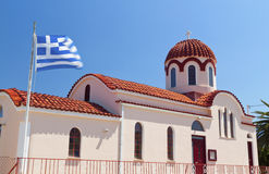 Greek church at Kefalonia island Royalty Free Stock Photos