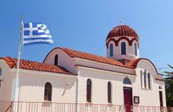 Greek church at Kefalonia island Royalty Free Stock Photos