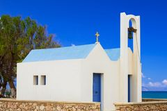 Greek church at Maleme beach on Crete. Greece Stock Images
