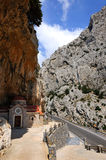Greek church in mountains Royalty Free Stock Images