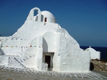 Greek church, Mykonos Stock Photography