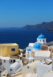 Greek church Oia Santorini caldera Royalty Free Stock Images