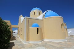 Greek church, Oia, Santorini, Greece Stock Photo