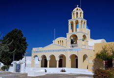 Greek church in Oia village, Santorini Royalty Free Stock Photos