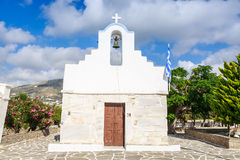 Greek church in Parikia Royalty Free Stock Photography