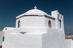 Greek church in Santorini Stock Image