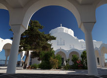 Greek Church on Santorini Stock Photo