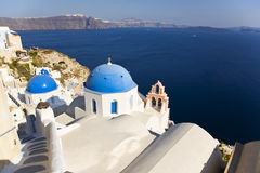 Greek Church, Santorini, Greece Stock Photo