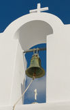 Greek church at Santorini island Royalty Free Stock Photo