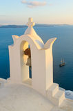 Greek church at Santorini island Royalty Free Stock Image