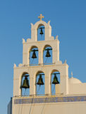 Greek church at Santorini island Stock Photo