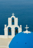 Greek church at Santorini island Stock Image